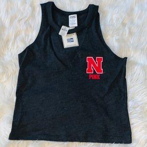 NWT PINK University of Nebraska Tank Top